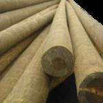 Купить деревянные столбы освещения ЛЭП 9,5 метров и 11 метров. В наличии в Выборге. Цена от 5500 руб.