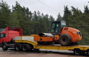 Доставка катка грунтового HAMM-3412 собственным тралом